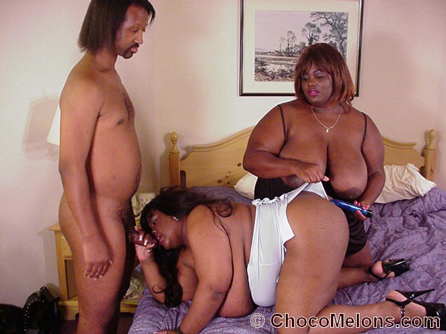 Ebony Bbw Threesome White